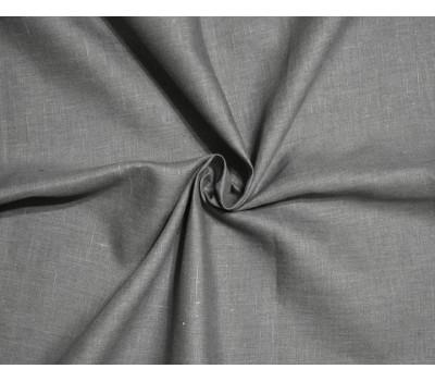 Ткань лён 100% тёмно-серый