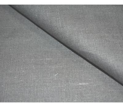 17-03 Ткань лён 100% тёмно-серый (отрезы)