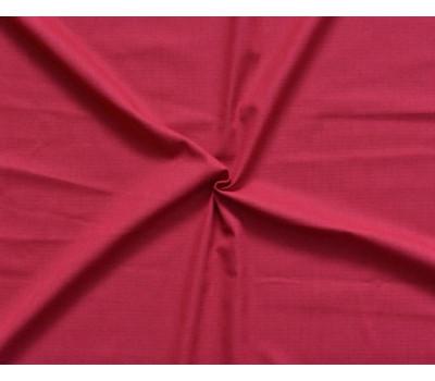 Крашеная полульняная ткань (красный)