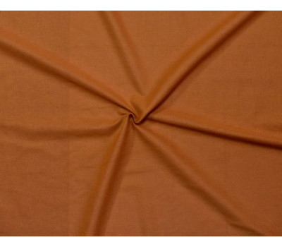 Крашеная полульняная ткань (морковный)