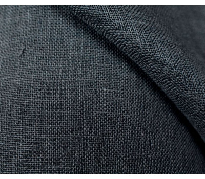 1-80 Ткань сетка 100% лён (тёмно-серая)