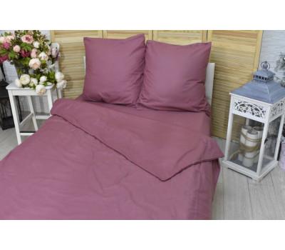Постельное бельё 1,5 спальное (пыльно-бордовый)