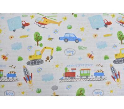 700 Ткань Муслин 2-х слойный (Детский рисунок)