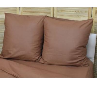 Наволочка 70*70 коричневый