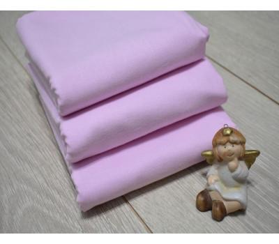 Перкалевая пеленка розового цвета