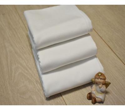 Перкалевая пеленка белого цвета