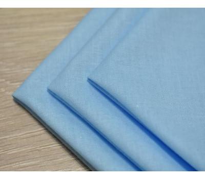 Перкалевый платочек голубого цвета