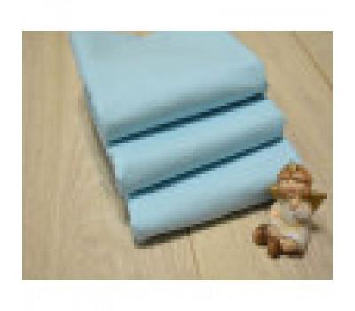 Перкалевая пеленка голубого цвета