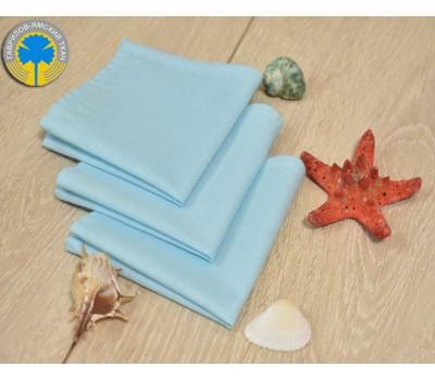 Муслиновый платочек голубого цвета