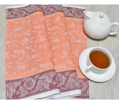 Полотенце 50*70 (Василёк) оранжевый-бордовый