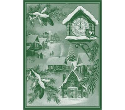 """Полотенце 50*70 """"Новогоднее время"""" зелёный"""
