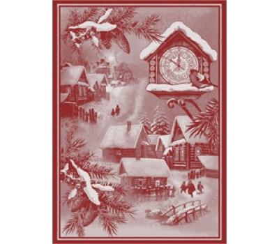 """Полотенце 50*70 """"Новогоднее время"""" красный"""