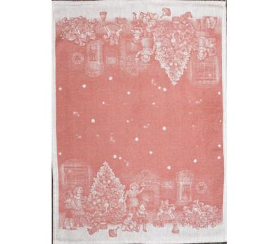 Полотенце 50*70 Новогодние игрушки (красный)