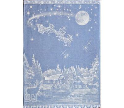 Полотенце 50*70 Рождество (синий)