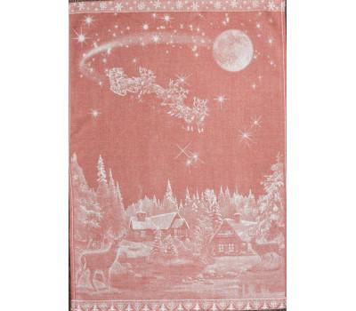 Полотенце 50*70 Рождество (красный)