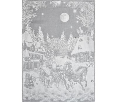 Полотенце 50*70 Русская зима (серый)