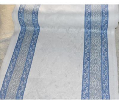 Холст жаккардовый Орнамент (синий)