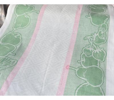 Холст жаккардовый Фрукты (зелёный)