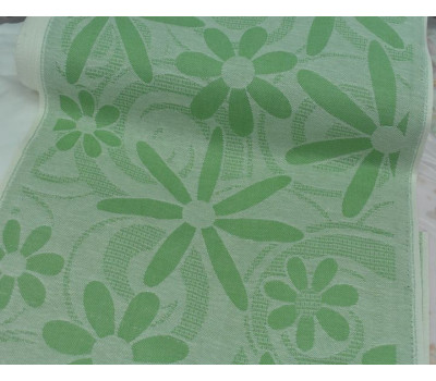 Холст жаккардовый Романтика (зелёный)