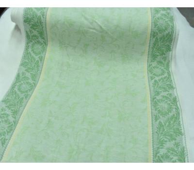 17-12 Холст жаккардовый (Василёк) салатовый-зелёный