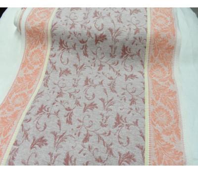 17-12 Холст жаккардовый (Василёк) бордовый-оранжевый