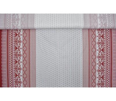 6-68 Ткань с рисунком (Вышивка) на белом