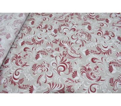 6-68 Ткань с рисунком (Петухи) красные