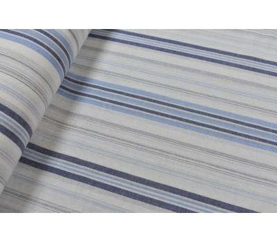 Льняная ткань с цветной просновкой 220 см