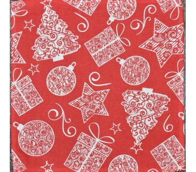 Салфетки 35*35 (Подарки) на красном