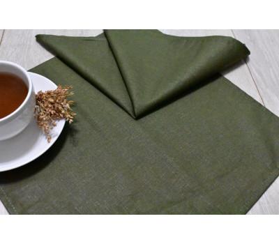 Тёмно-зелёные салфетки 35*35