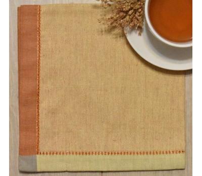 Салфетка (Кайма) 45*45 оранжевый