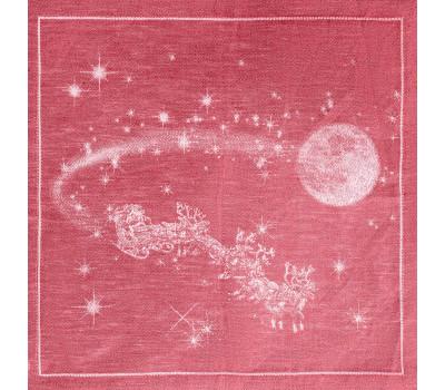 16с-11 Салфетка (Рождество) 45*45 красный
