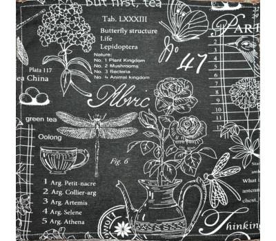 Салфетка 35*35 Версаль чёрный