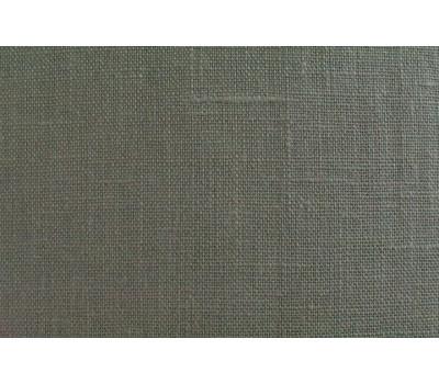 Штора льняная 145*270 (Тёмно-серый) на петлях