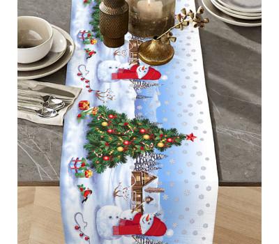"""Дорожка на стол """"Снеговик"""""""