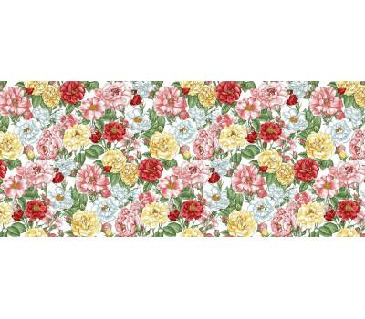 904 Ткань Рогожка (Цветущий шипвник)
