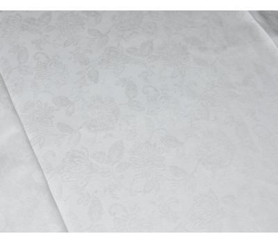 Скатерть (Цветочный) белый 155*250