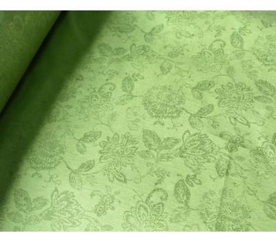 Жаккардовая ткань (Цветочный) зелёный