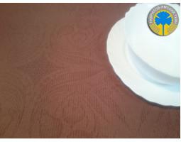 21/37-15 Скатерть (Ландыши) коричневый 893 150*150