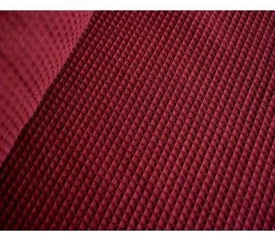 Вафельная полотно клетка 7*7 мм (бордовый)