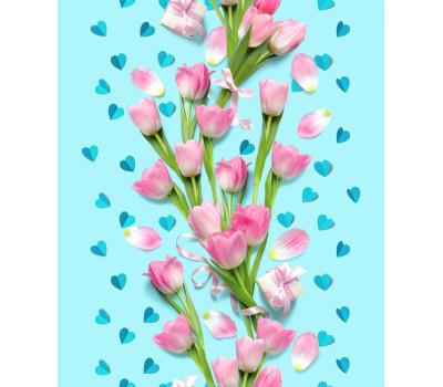 Полотно вафельное 50 см (Нежный тюльпан)