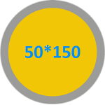 Дорожки на стол лён с хлопком 50(45)*150
